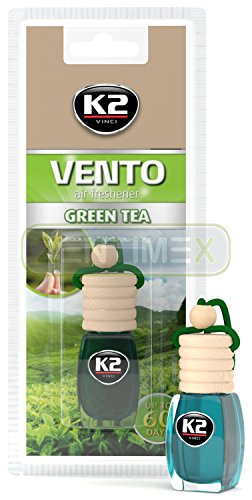 Preisvergleich Produktbild Duftflakon Duftflasche Duftbaum Autoduft Autoparfüm Lufterfrischer Raumduft mit imprägniertem Kork 8ml GREEN TEA GRÜNER TEE