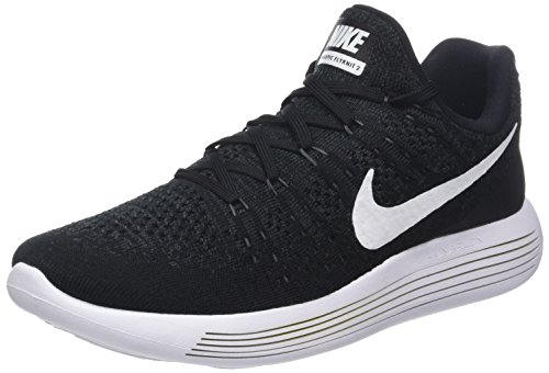 Nike Lunarepic Low Flyknit 2, Zapatillas de Trail Running para Hombre, Negro (Black/White-Anthracite 001), 45.5 EU