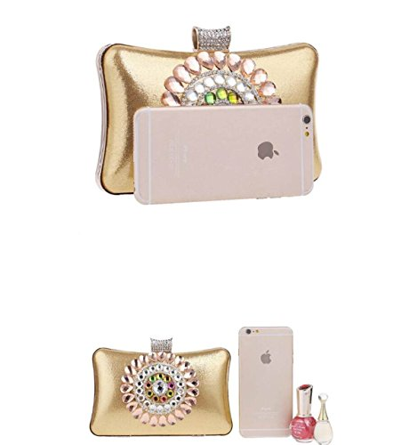 Fzhly Evening Package Luxury Banquet Diamond Ladies Clutch Argento