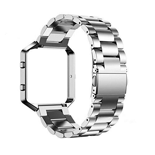 Easy-topbuy Metal Frame Shell + Edelstahlarmband mit Magnetverschluss für Fitbit Blaze
