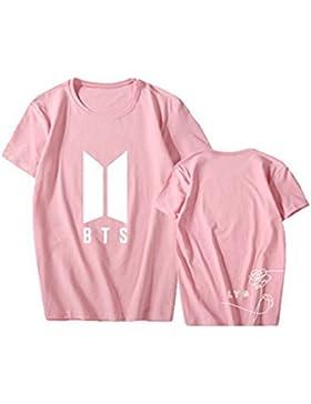 DJS Blusa unisex BTS Kpop Fans Manga corta Jin JIMIN Suga Rap-Monster con Camisetas Tops Camisas