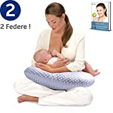 Royal Baby Cuscino Allattamento Neonato - Federa Cuscino Extra -  Ergonomico Per Il Sostegno Del Bimbo.