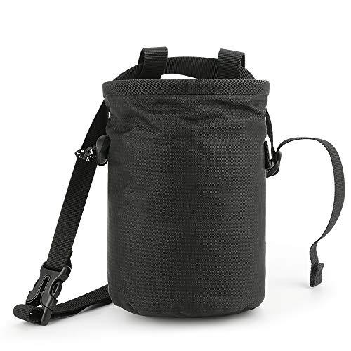 welltop Chalk Bag, Magnesiumbeutel zum Klettern und Bouldern, Boulderbag Magnesiatasche mit Befesti