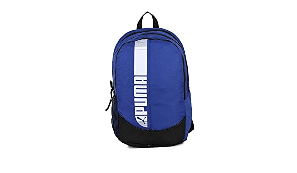 b5ffe02ca4e3 ... Puma Mazarine Blue and Puma Black Laptop Backpack (7593201) Amazon.in  Bags