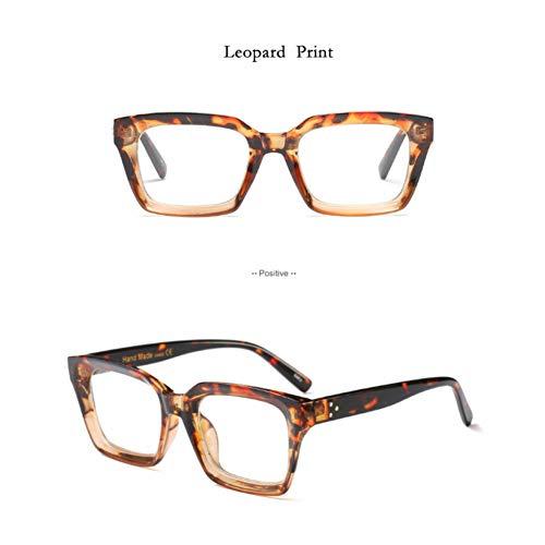 YLNJYJ Sonnenbrillen Frauen-Quadrat-Brillen-Brillen-Rahmen-Weibliche Klare Linse Frauen-Brillen-Plain Lense Reading Spectacles