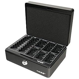 HMF 308-02 Geldkassette Euro-Münzbrett 20 x 16 x 9 cm, schwarz