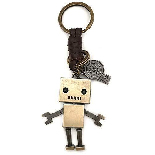 ahliwei Schlüsselanhänger Anhänger Cartoon Süße Roboter Paar Rucksack Schlüsselband Auto Auto Schlüsselanhänger Mann
