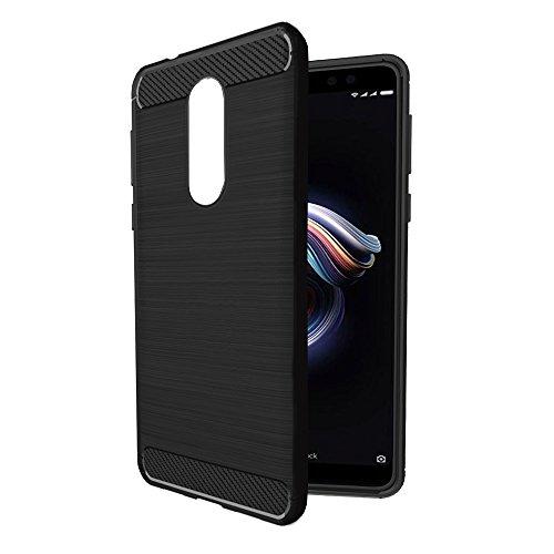 Amazon Brand - Solimo Redmi 5 Mobile Cover (Soft & Flexible Back case), Black