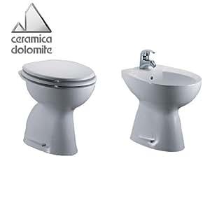 Sanitari bagno Bidet + Vaso Dolomite serie Tenax (vaso scarico ...