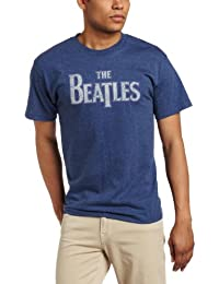 Fea Merchandising Men's The Beatles Vintage Logo Tee, Denim Heather