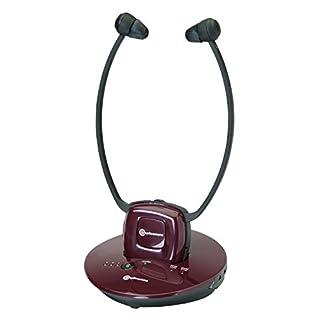 amplicomms, drahtloser Funkkopfhörer mit Verstärker für TV, Apple iPod/iPhone, CD-/MP3-Player