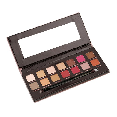 VWH 12 Farben Lidschatten Palette Makeup Eyeshadow Kosmetik Profi (Make Up Fake)
