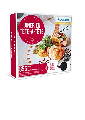 Vivabox- Coffret cadeau couple - DINER EN TETE A TETE - 855 repas gastronomiques + 1...