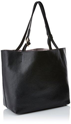 Coccinelle - C1 Yi5 Davon 110201, Borsa Shopper e la spalla Donna Nero (Black)