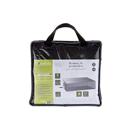 Housse de table rectangulaire L - 265 x 125 x 80 cm - Polyester - Gris