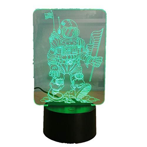 achtlicht/Touch-Taste / 3d optische Schreibtischlampe / 7 Farbe Licht/Mädchen Weihnachten Halloween Geburtstagsgeschenk/Astronaut ()