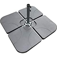 Classic Garden Shop® SET OF FOUR WEIGHTS - PARASOL BASE STAND WEIGHTS FOR BANANA HANGING AND CANTILEVER UMBRELLA PARASOLS