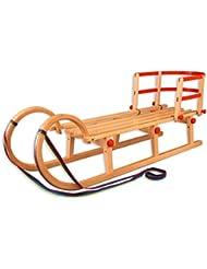 21–125–dossier hörnerschlitten luge pliable luge rodel dossier pour luge en bois, longueur :  125 cm