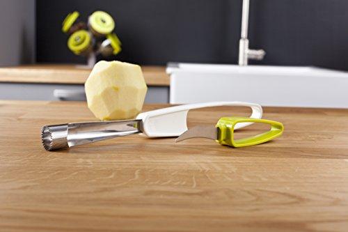 Tomorrow's Kitchen 4663660 Vide Pomme + Couteau Blanc/Vert