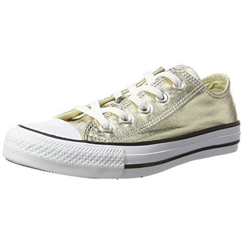 Converse Black Light Star Taylor Uomo Ox Chuck All White Gold Sneaker OOHfT4r