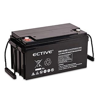 ECTIVE Bleiakku 12V 87Ah Zyklenfeste AGM Batterie Blei Akku EBC-Serie 13 Varianten: 25Ah - 280Ah (wartungsfrei)