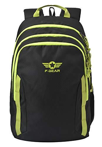 F Gear Raider 30 Ltrs Black Dmnd Casual Backpack (2849)