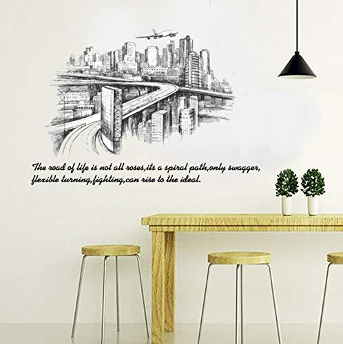 o Silueta Paisaje Grandes Pegatinas De Pared Decoración Para El Hogar Salón Dormitorio Arte Mural Etiqueta De La Pared Removible ()