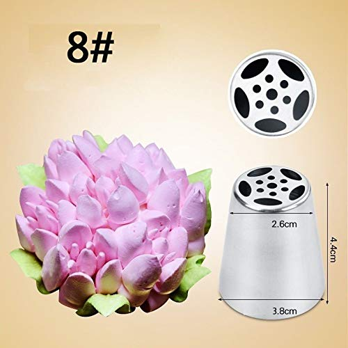 KHKJ 1PC DIY Russian Pastry Cake Icing Piping Decorating Nozzle Tips Baking Pastry Tools Cake Baking Tools Tulip Dessert