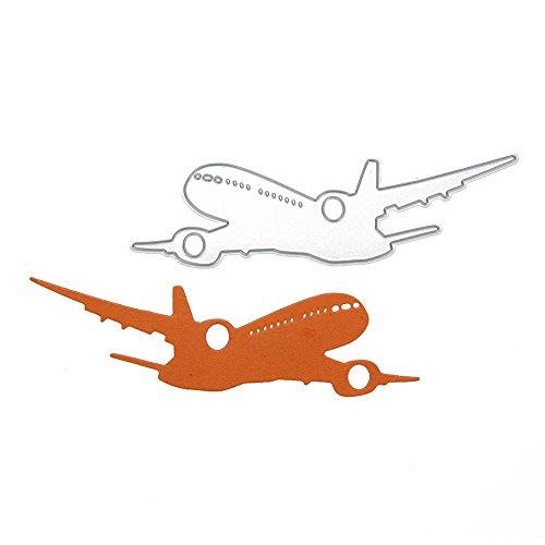 Culater Dies Stanzschablonen für Scrapbooking DIY Prägung Kit in Relief Gravur Matefielduk Das Papier zum Schneiden von Papier aus der Schablone DIY aus Karbonstahl Dekoration des Flugzeugs -