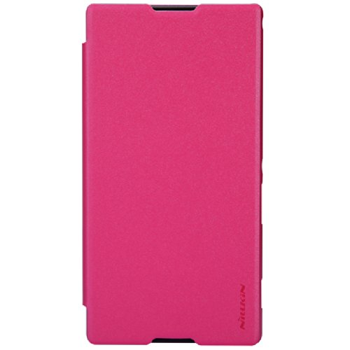 Nillkin Sparkle Leather Flip Stand Bumper Back Case Cover For Sony Xperia T2 Ultra (Pink)  available at amazon for Rs.499
