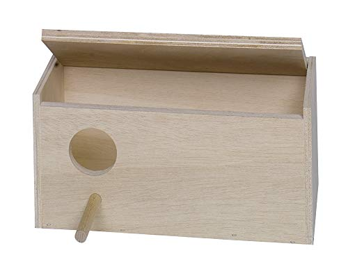 Nobby Wellensittich Nistkasten Loch Links; 28,5 x 14,0 x 14,0 cm