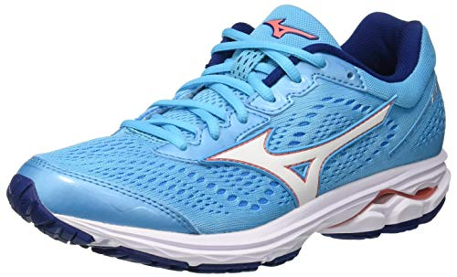 Mizuno Damen Shoe Wave Rider WOS Sneakers, Mehrfarbig (Blueato/WHI/Georgiap 001), 39 EU