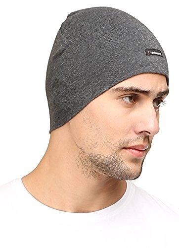 FabSeasons Cotton Skull Cap (Grey)