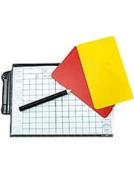a-nam Set de tarjetas de árbitro con lápiz, Notebook Score Hojas, fútbol/fútbol árbitro Kit, rojo y amarillo tarjetas tarjetas de repuesto