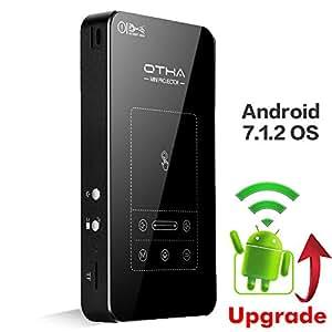 OTHA Mini Projektor Beamer, Tragbarer Projektor mit Touchpad ,Stativ, Fernbedienung ,HDMI ,für Amazon TV Fierstick/Xbox,Akkulaufzeit bis zu 35000