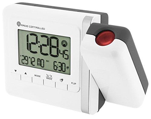 Krippl-Watches Funkprojektionswecker, Farbe:weiß