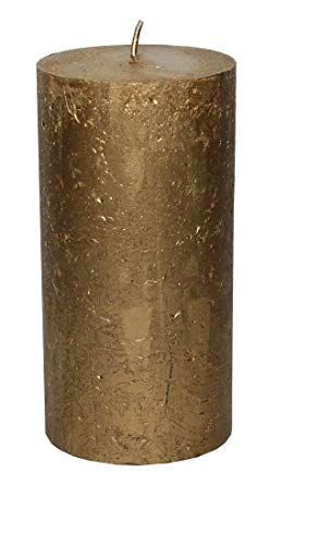 Nein Rustikal Kerze Gold Metallic Stumpenkerze 100 x 75 mm Gold