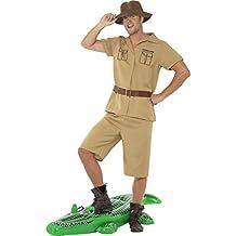 NET TOYS Dschungel Kostüm Safari Herrenkostüm Khaki Afrika Safarihemd  Tropenhemd Buschhut Safarihose Reiseoutfit Expedition Forscher Verkleidung 9759c65429