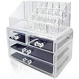 منظم و صندوق المكياج ، اكريليك - لون شفاف