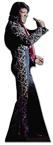 Star Cutouts Pappaufsteller von Elvis Jump Anzug (schwarz)
