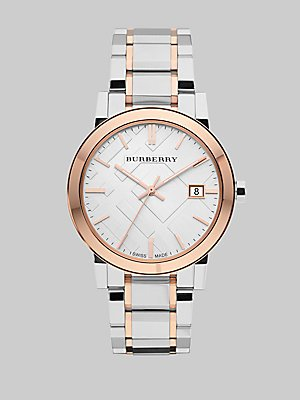 BURBERRY MEN'S 38MM STEEL BRACELET & CASE SWISS QUARTZ ANALOG WATCH BU9006