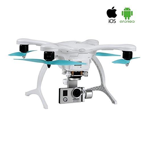 Ehang GHOSTDRONE 2.0 Aerial RC + Quadrocopter mit 3-Achsen Hochpräzisionsgimbal &4K HD Sports Actionkamera, iOS/Android APP Bedienung, 25 Min Flugdauer, Bis zu 1000m Sendebereich,Weiß