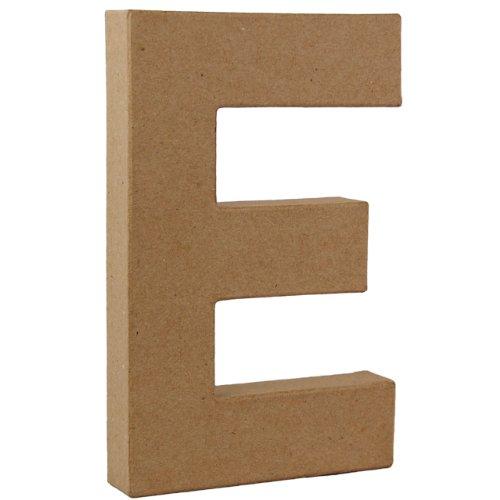 country-love-crafts-825-inch-205cm-3d-letter-e-papier-mache