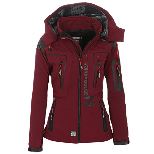 Geographical Norway Tislande Damen Softshell Jacke Burgundy Gr. XXL