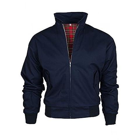 Warrior Motif Harrington classique Retro Siliconesupplies Jacket's - Bleu - Bleu marine,