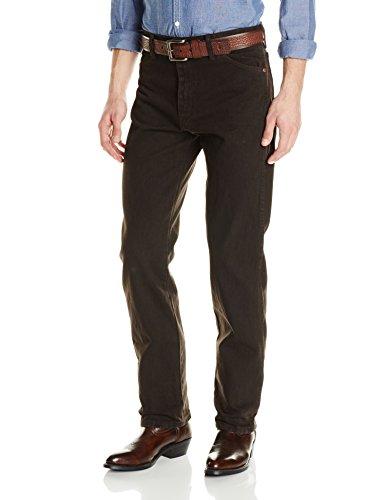 Wrangler Men's Cowboy Cut Original Fit Jean, Black Chocolate, 29Wx32L (Black Jean Denim Chocolate)