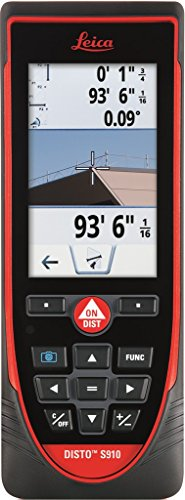 Leica DISTO S910 984ft Laser Distance Measurer, Point to Point Measuring, Red/Black by Leica Disto
