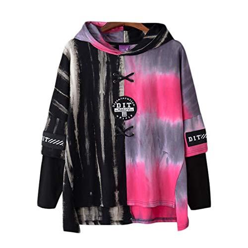 Irypulse Herren Kapuzenpullover Hoodies Sweatshirts Pullover Langarm Dip Dye Schnürung Casual Tops Mode Urban Stil Trend Hip Hop Jugendliche Jungen für Freizeit Outdoor - Original Design Dye-pullover Sweatshirt
