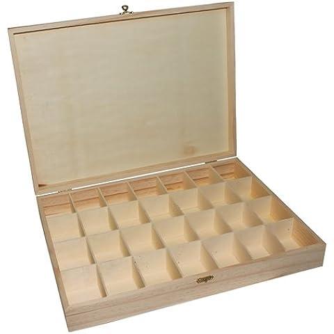 La Fourmi - Scatola grande per perline, 390 x 290 x 60 mm, con 28 (Bobine Di Legno Per L'artigianato)