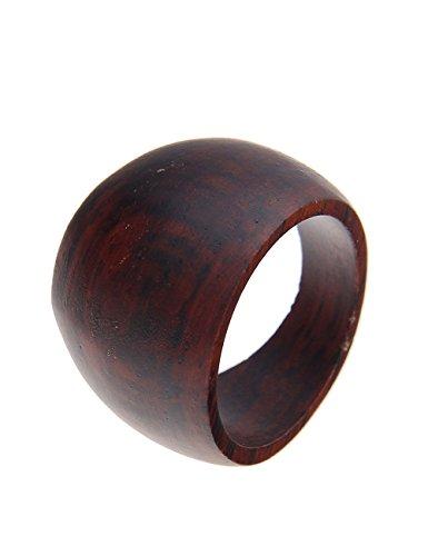 Leslii Damen-Ring Holz Trend Braun Größe 18mm oder 19mm 250115544 RingSize 57 (18.1)